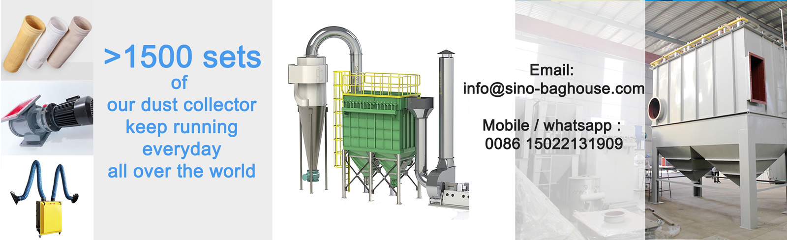 Dust collector pulse bag filter 1600